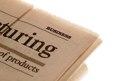 Newspaper Buisness section. Business Section of a Newspaper Royalty Free Stock Photography