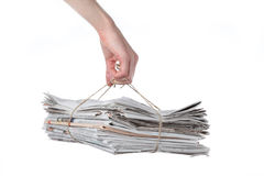 Newspaper bundle Royalty Free Stock Photography