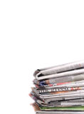 Newspaper Bundle Stock Photo