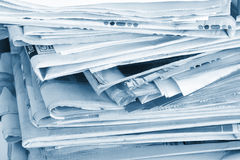The newspaper business of news Stock Photo