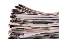 The newspaper business of news Stock Photography