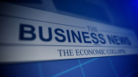 Newspaper with business news. Royalty Free Stock Images