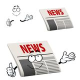 Newspaper character with news headline Royalty Free Stock Photography
