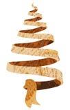 Newspaper Christmas tree Royalty Free Stock Photos
