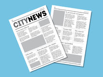 Newspaper City News with Headers. Vector vector illustration