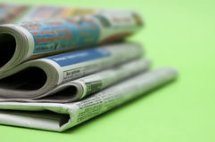 Newspaper closeup Stock Photography