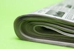 Newspaper closeup Royalty Free Stock Photos
