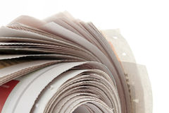 Newspaper closeup Stock Image