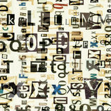 Newspaper collage letters background Royalty Free Stock Photos