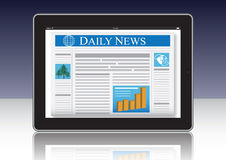 Newspaper on Computer Royalty Free Stock Images