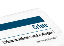 newspaper - crime Stock Images