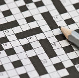 Newspaper crossword Royalty Free Stock Images