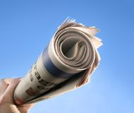 Newspaper Delivery Stock Photo