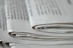 Newspaper desk Royalty Free Stock Photography