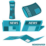 Newspaper Document and Report Vector Stock Photos
