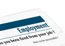 Newspaper - employment Stock Photo