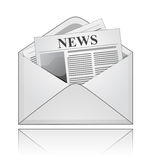 Newspaper in an envelope Royalty Free Stock Photo