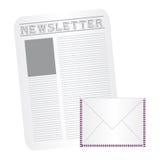 Newspaper and envelope cartoon Royalty Free Stock Image