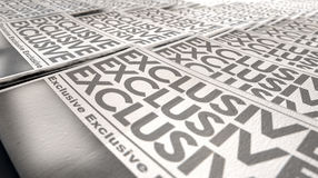 Newspaper Exclusive Press Run End Royalty Free Stock Images