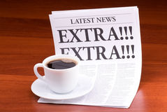 The newspaper EXTRA! EXTRA! Stock Photography