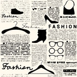 Newspaper fashion background Royalty Free Stock Photos