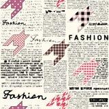 Newspaper fashion background Royalty Free Stock Photos