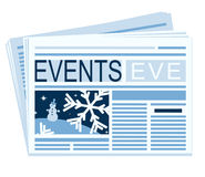 Newspaper of festive events Royalty Free Stock Photo