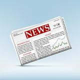 Newspaper with financial and economic news. Icon of the newspaper with financial and economic news. Charts of trading on the stock exchange. Stock  illustration Royalty Free Stock Photography