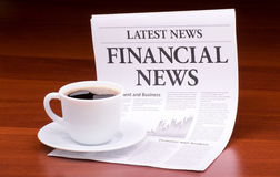 The newspaper FINANCIAL NEWS Royalty Free Stock Photography