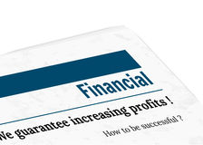 Newspaper - financial, profit. Newspaper with grunge effect - financial, profit, vector Royalty Free Stock Photos