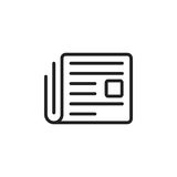 Newspaper flat vector icon. News symbol logo illustration Royalty Free Stock Photos
