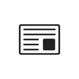 Newspaper flat vector icon. News symbol logo illustration Stock Images