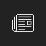 Newspaper flat vector icon. News symbol logo illustration Royalty Free Stock Image