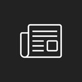 Newspaper flat vector icon. News symbol logo illustration Stock Photos