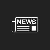 Newspaper flat vector icon. News symbol logo illustration Royalty Free Stock Images