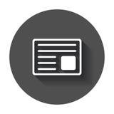 Newspaper flat vector icon. News symbol logo illustration on bla Stock Photo