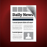 Daily newspaper Royalty Free Stock Images