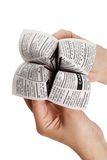Newspaper Fortune Teller Royalty Free Stock Photo