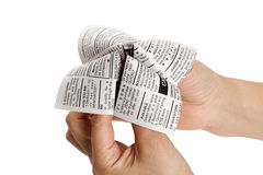 Newspaper Fortune Teller Stock Photography