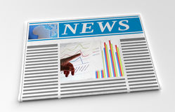 Newspaper front page Royalty Free Stock Image