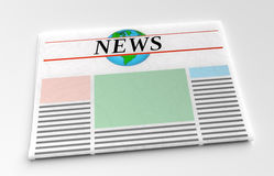 Newspaper front page. A newspaper front page template Royalty Free Stock Images