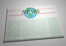 Newspaper front page Royalty Free Stock Images