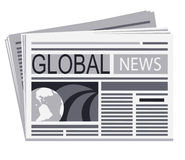 Newspaper of global   news Stock Photography
