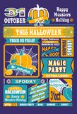 Newspaper Halloween Stock Photo