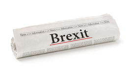 Newspaper with the headline Brexit Stock Photos