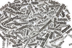 Newspaper headline clipping background Royalty Free Stock Photos