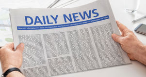 Newspaper with the headline Daily News Royalty Free Stock Image