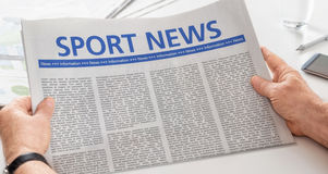 Newspaper with the headline Sport News Royalty Free Stock Images