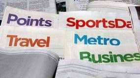 Newspaper headlines. A few of  colorful newspaper headlines Stock Image
