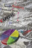 Newspaper headlines. With creased paper,economy Royalty Free Stock Images